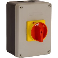 40 Amp Rotary Isolator Insulated Weatherproof - IP65 4 Pole Switched