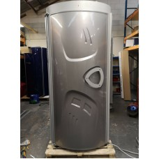 Luxura Delta 500 in Gray - Commercial Vertical Stand Up Sunbed