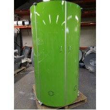 Green SunQuest 60 Tube Double door Eclipse Commercial Vertical Stand Up Sunbed